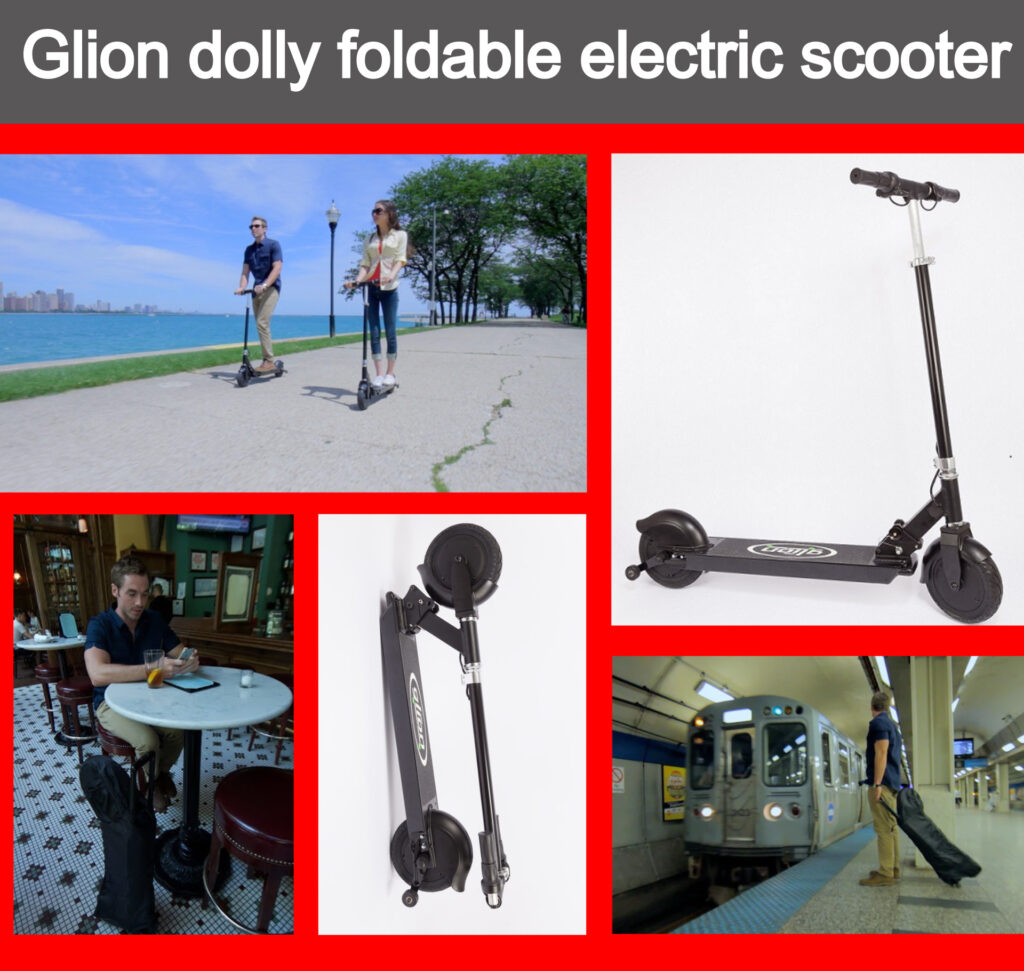 glion dolly foldable electric scooter pic