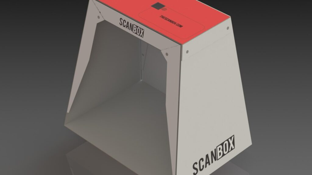 Scanbox smartphone scanner , this simple product prototype has raised 184 thousand $ on kickstarter on 2012 .