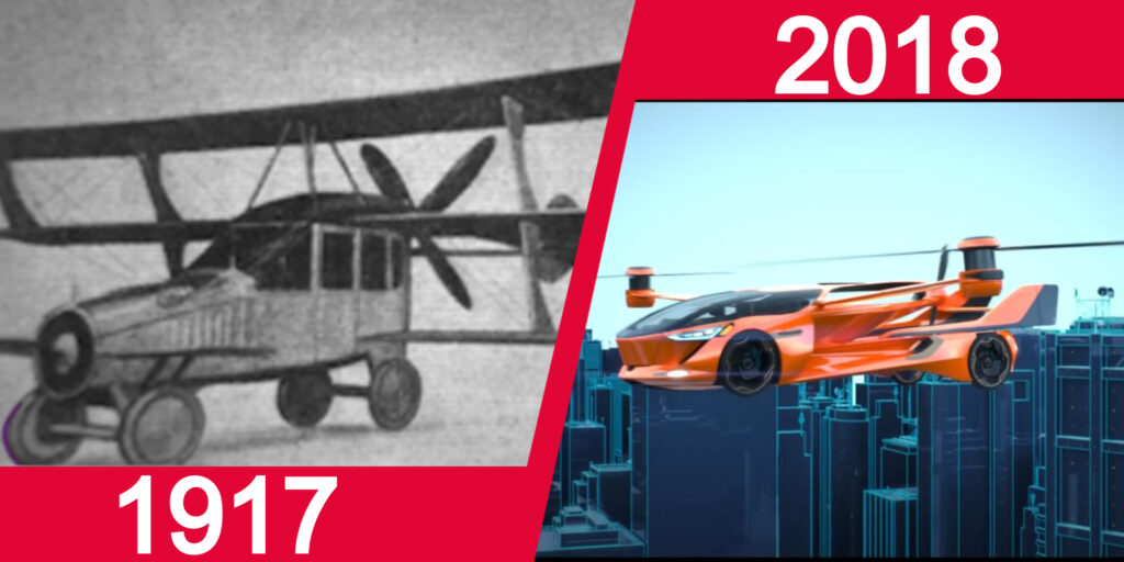 evolution of flying cars_
