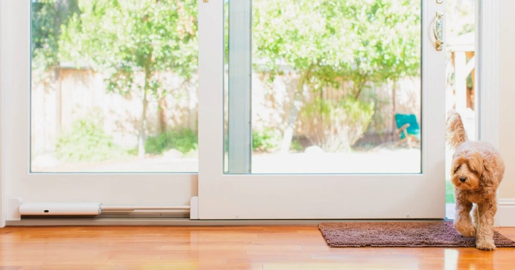 wayzen automatic pet sliding door