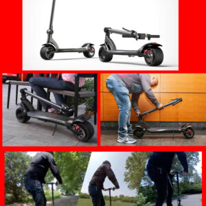 Wide wheel folding electric scooter (electric scooter for adults designed for more stable ride like the wheels electric scooter)