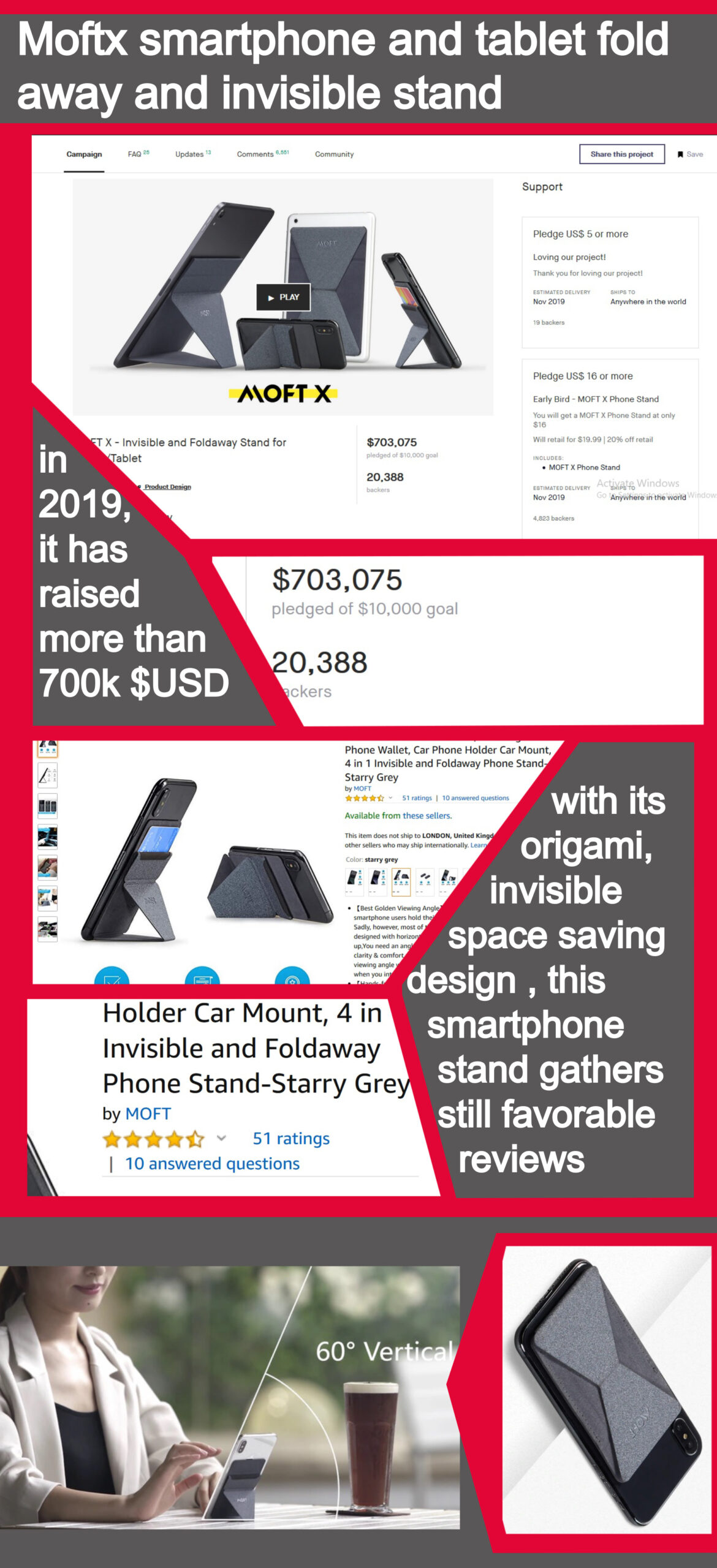 moftx invisible smartphone stand