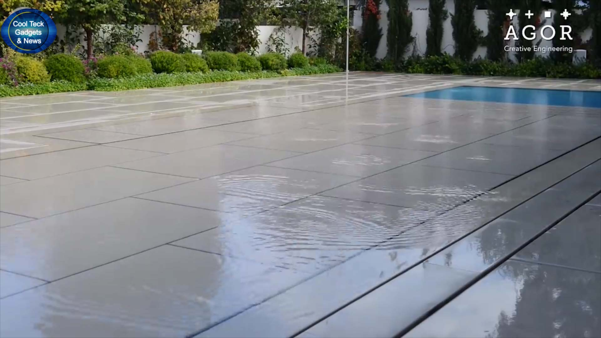 Agor swimming pool Stone paved floor