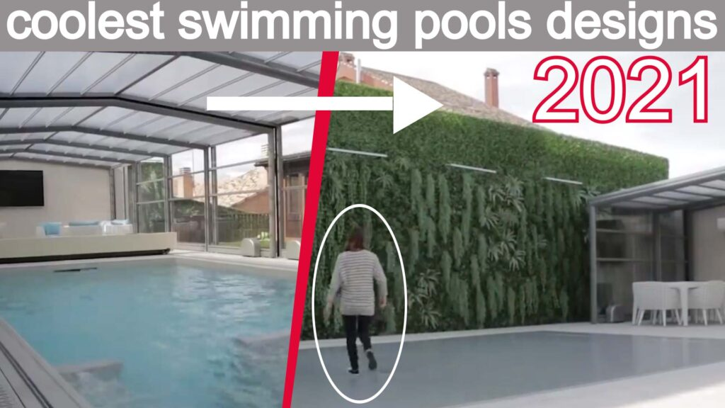 Latest coolest swimming pools outdoor with movable floor